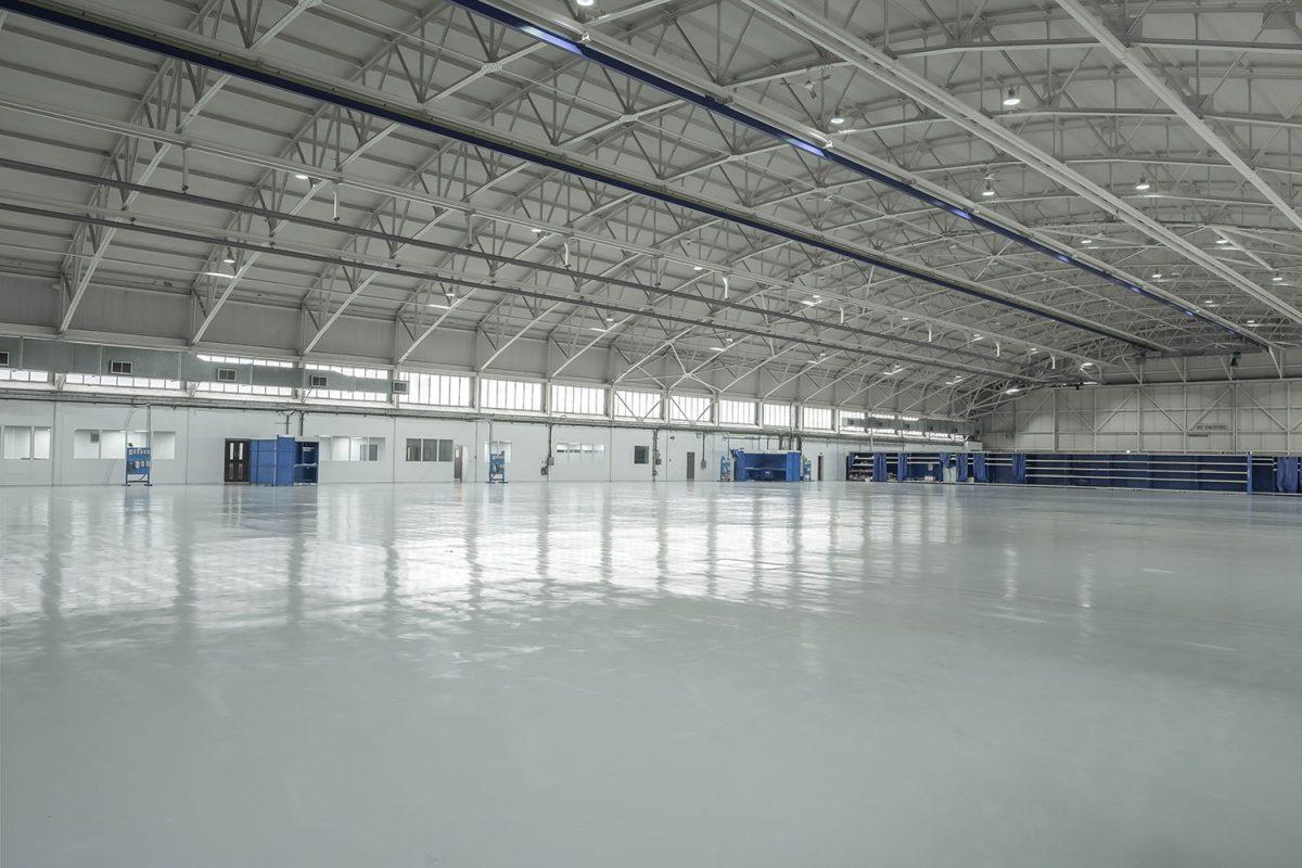 aircraft hangar floor refurbishment